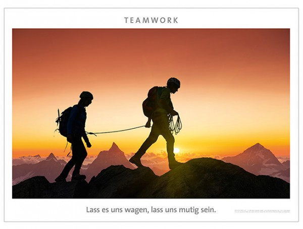 "Motivationsposter ""Teamwork"""