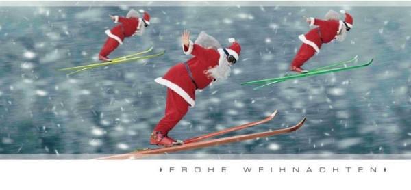"""Grußkarte """"Fliegender Weihnachtsmann"""""""
