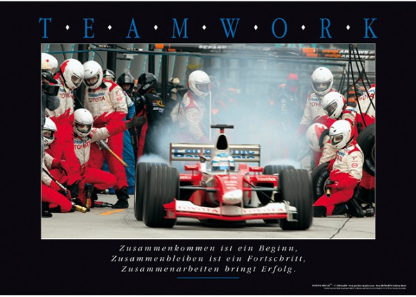 "Motivationsposter ""Teamwork"" Positive Impulse"
