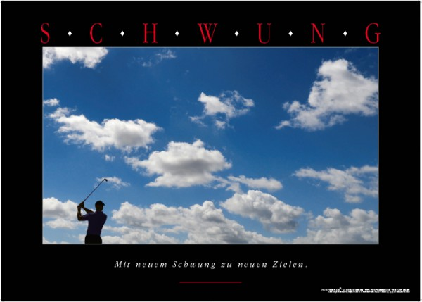 "Motivationsposter ""Schwung"""