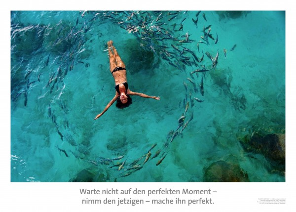 "Motivationsposter ""perfekter Moment"""