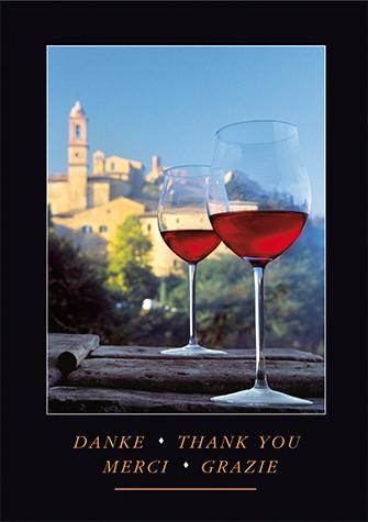 """Grußkartenset """"Danke (Wein)"""""""