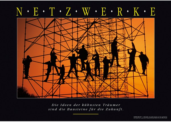 "Motivationsposter ""Netzwerke"" Positive Impulse"
