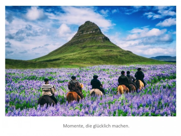 "Motivationsposter ""Momente, die glücklich machen"" Positive Impulse"