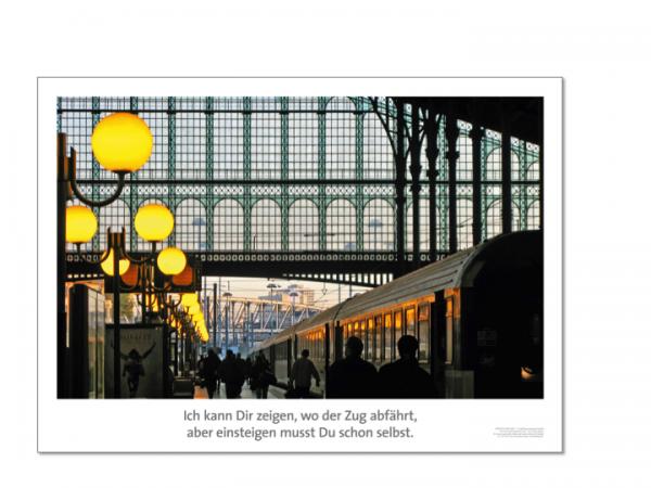 """Motivationsposter """"Wo der Zug abfährt"""" Positive Impulse"""