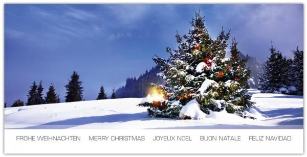weihnachtsgru karten set frohe weihnachten mehrsprachig. Black Bedroom Furniture Sets. Home Design Ideas