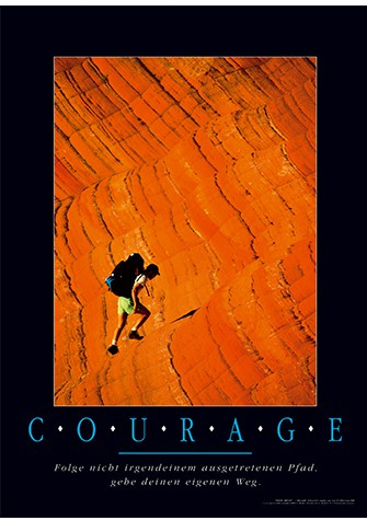 "Motivationsposter ""Courage"""