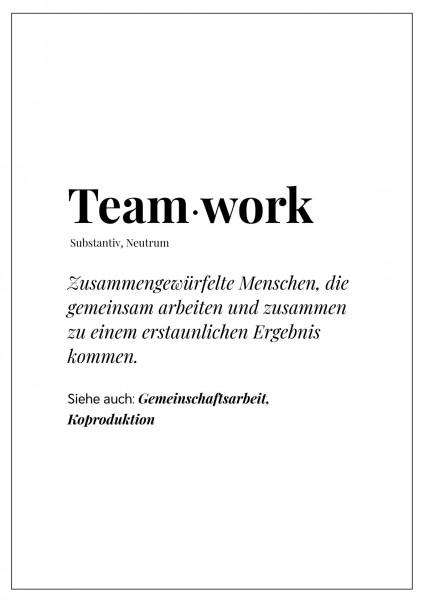 """Textposter """"Teamwork"""""""
