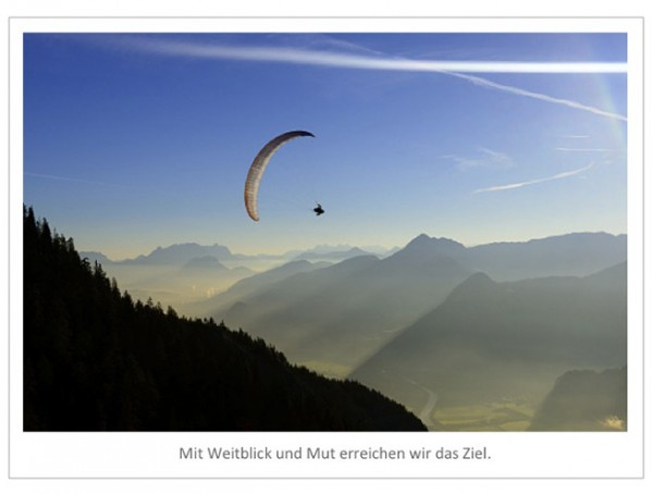 "Motivationsposter ""Weitblick und Mut"""