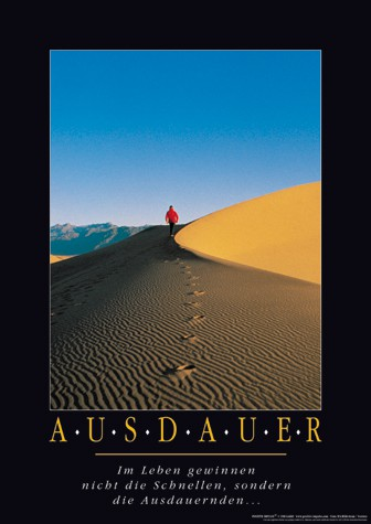"Motivationsposter ""Ausdauer"""