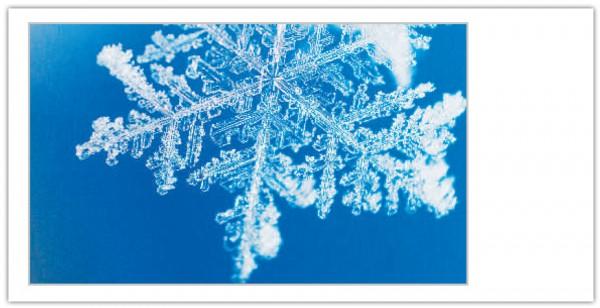 """Grußkartenset """"Weihnachten (Schnee/Eiskristall)"""""""
