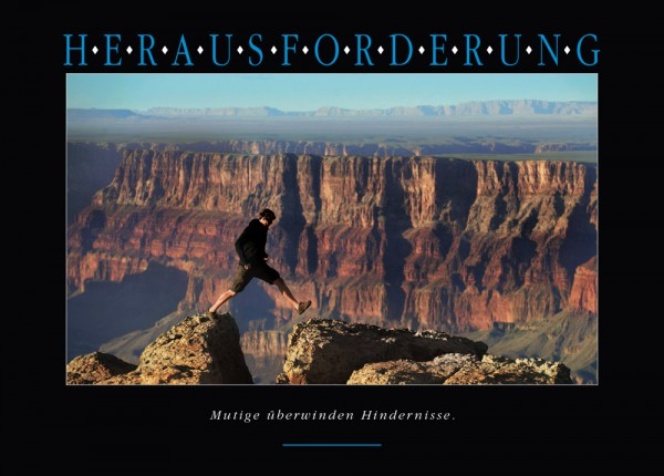 "Motivationsposter ""Herausforderung (Grand Canyon)"" Positive Impulse"