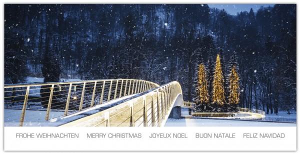 Frohe Weihnachtsgrüße.Grußkartenset Frohe Weihnachten Mehrsprachig