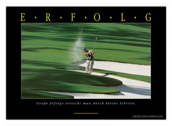 "Motivationsposter ""Erfolg (Golf)"" Positive Impulse"