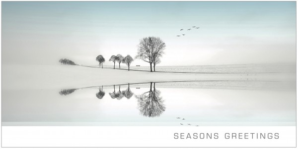"Grußkartenset ""Seasons Greetings"" Eislandschaft"