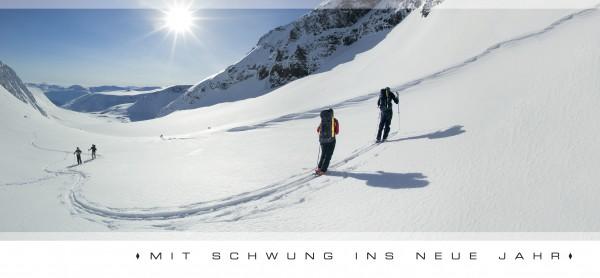 """Grußkartenset """"Mit Schwung ins neue Jahr"""""""