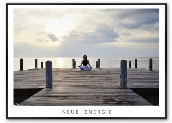 """Motivationsposter """"Neue Energie"""" mit schwarzem Designrahmen"""