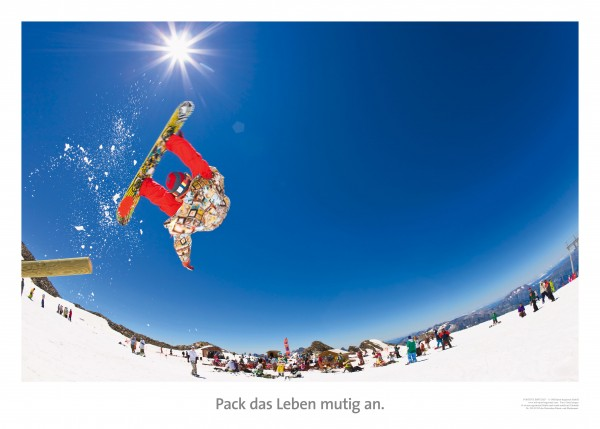 "Motivationsposter ""Pack das Leben mutig an"" Positive Impulse"