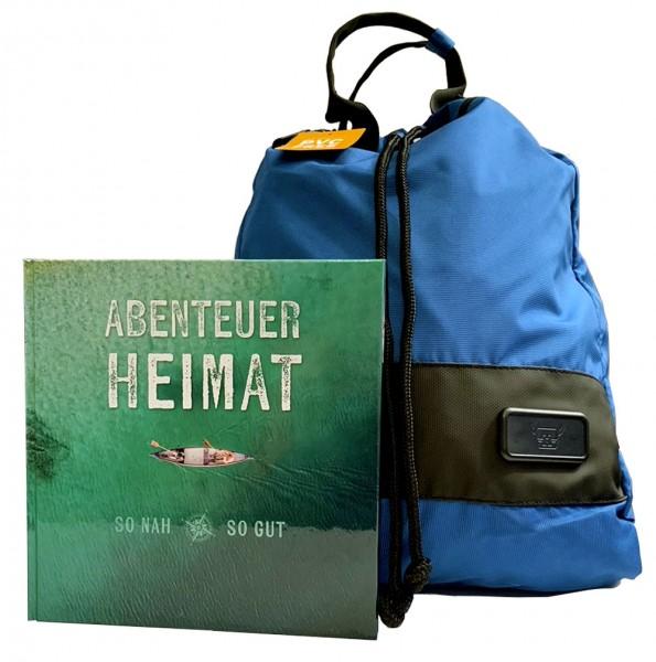 Geschenkset Buch Abenteuer Heimat mit Rucksack