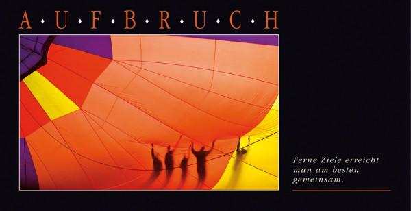 "Grußkartenset ""Aufbruch (Ballone)"""