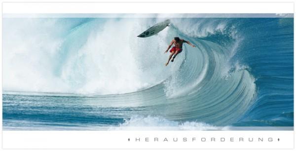 """Grußkartenset """"Herausforderung"""" (Surfer)"""
