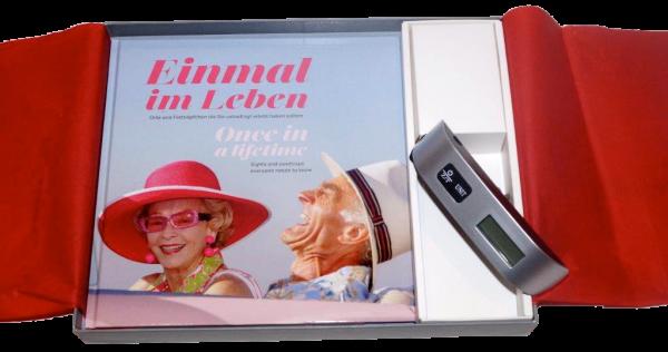 Geschenkbox Einmal im Leben Bildband und Kofferwaage