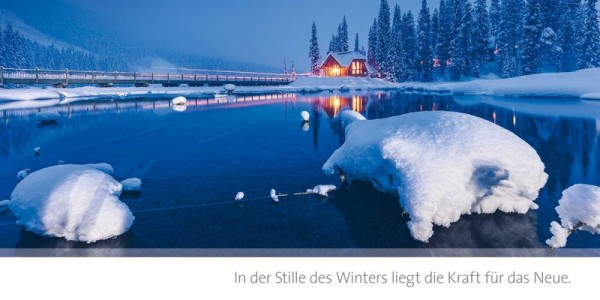 "Grußkarte ""In der Stille des Winters"""